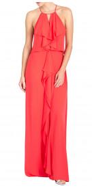 BCBG Maxazria Halter-Ruffled Dress