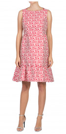 Carolina Herrera Printed Ruffled Dress