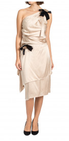Chanel Asymmetric Draped Dress