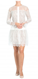 Chloe Long Sleeve Sheer Dress