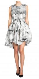 Christian Dior Pleated Print Dress