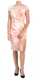 Custom Draped Printed Dress