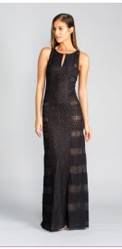 BCBG Maxazria Halter Lace Gown