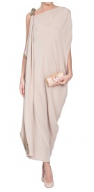 Gianfranco Ferre Embellished Asymmetric Dress