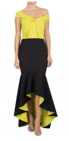La Petite Robe di Chiara Boni Off The Shoulder Ruffled  Dress