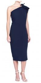 Lanvin Asymmetric Silk Dress