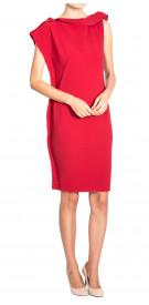 Lanvin Asymmetric Trimmed Dress