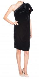 Lanvin Asymmetric Velvet Dress