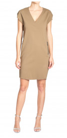 Lanvin Straight Cut V-Neck Dress