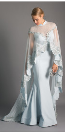 Maison Elegance Haute Couture Embellished Gown & Cape