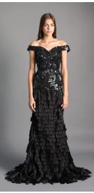 Maison Elegance Haute Couture Tassle Evening Dress