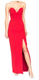 Nicole Miller Strapless Bustier Gown
