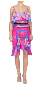 Peter Pilotto Ruffled Printed Dress