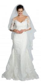 Pronovias Long Sleeve Lace Gown