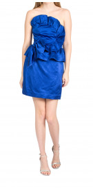 Rebecca Taylor Asymmetric Ruffled Dress