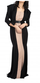 Rouge Couture Two-Tone Kaftan