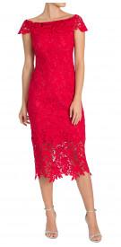 Shoshanna Ruffled Lace Dress