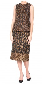 Carolina Herrera Leopard Print  Top & Skirt