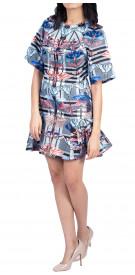 Temperley London Printed Ruffled Dress