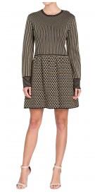 Valentino Long Sleeve Printed Dress