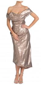 Vivienne Westwood Off the Shoulder Sequined Dress