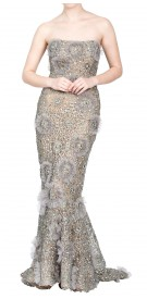 Zuhair Murad Strapless Sequined Gown