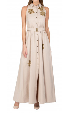A La Russe Sleeveless Embellished Dress