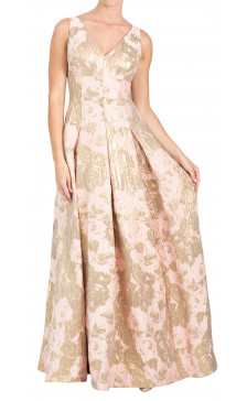 Aidan Mattox Sleeveless Printed Dress