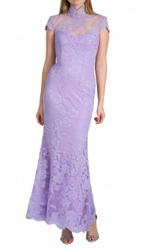 Alex Perry scallop cord lace gown