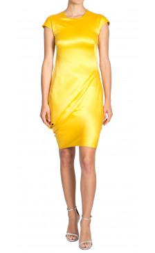 Alexander Mcqueen Asymmetric Silk Dress