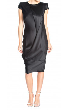 Alexander Mcqueen Draped Silk Dress