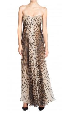 Alexander Mcqueen Jungle Print Strapless Dress