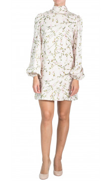 Alexander Mcqueen Long Sleeve High-Neck Dress
