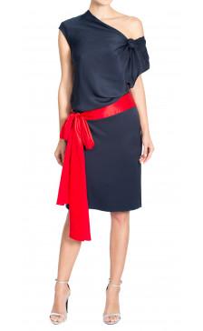 Alexander Mcqueen Silk Asymmetric Dress