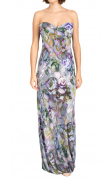 Alexander Mcqueen Strapless Printed Dress