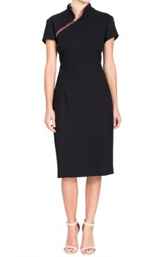 Alexander Mcqueen Zipped High Neck  Dress