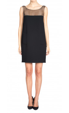 Andrew GN Sheer Sleeveless Dress