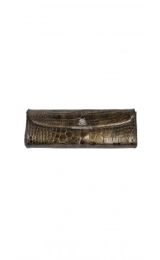 Asprey Textured Flap Clutch