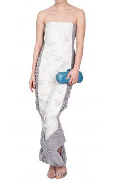 Balenciaga Sleeveless Ruched Dress
