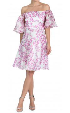 Bambah Off the Shoulder Printed Dress