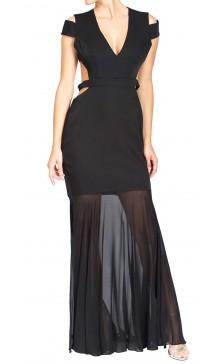 BCBG Maxazria Cutout Sheer Dress