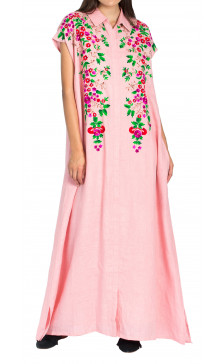 Bint Al Balad Embroidered Sleeveless Kaftan