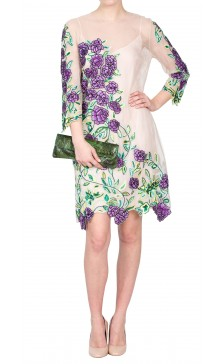 Blumarine Sheer Embroidered Dress