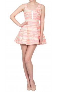 Calla Fluorescent Multi-Color Dress