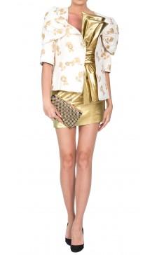 Chanel Gold Patterned Jacket