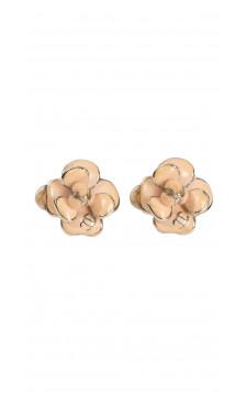 Chanel Floral Enamel Earring