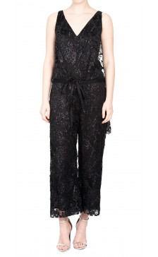 Chanel Lace Sleeveless Jumpsuit