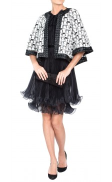 Chanel Sequined Cape Jacket