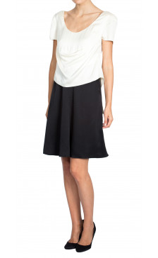 Chanel Two-Tone Silk Dress