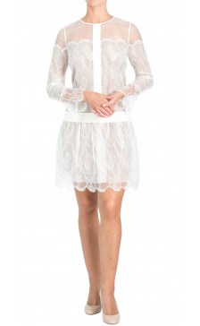 Chloe Long Sleeve Sheer Dress